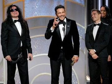 James Franco tras recibir el Globo de Oro a Mejor Actor