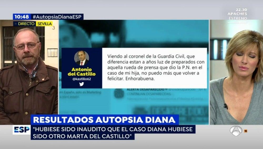 """Antonio del Castillo: """"Tener el cuerpo es igual o más importante que saber lo qué pasó"""""""