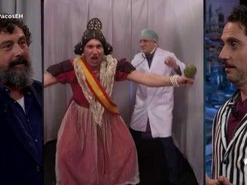 Paco Tous reta a Paco León en el juego de las cabinas de la mentira y la verdad