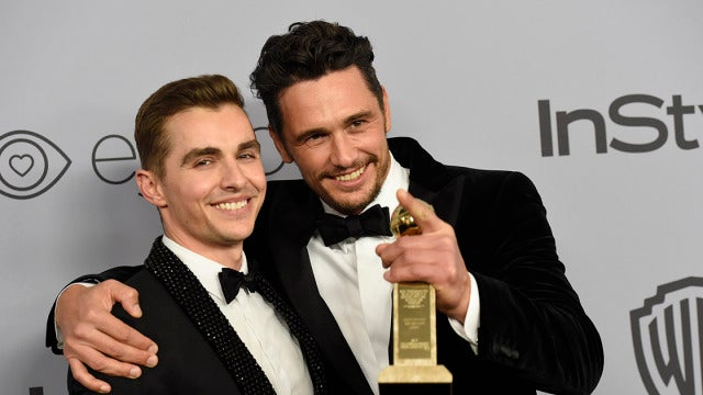 James Franco junto a su hermano Dave Franco