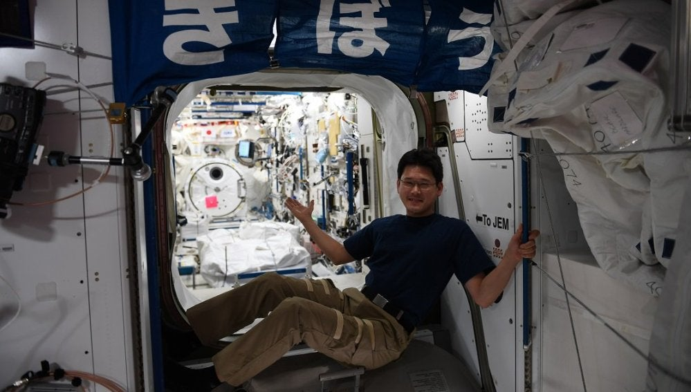 El astronauta japonés Norishige Kanai