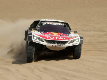 Sébastien Loeb, en la cuarta etapa del Dakar