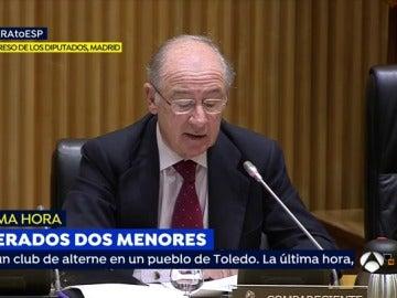 Rodrigo Rato, en el Congreso