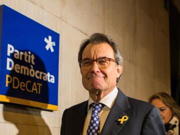 El expresidente de la Generalitat y presidente del PDeCAT, Artur Mas