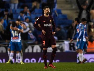Gerard Piqué, contra el Espanyol