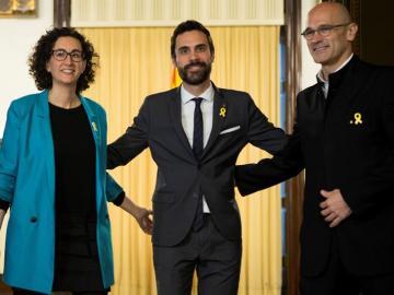 Marta Rovira, Roger Torrent y Raül Romeva