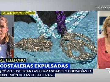 'Espejo Público' habla con las costaleras expulsadas de dos pasos de Semana Santa