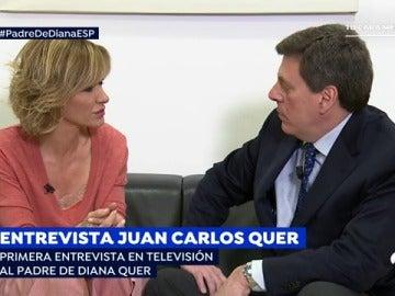 """Juan Carlos Quer: """"El momento más duro fue cuando fuimos a recoger el cuerpo de Diana al Instituto Anatómico Forense"""""""