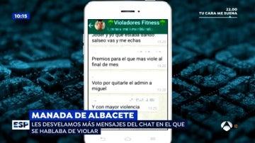 "'Espejo Público' revela nuevos mensajes de la 'Manada de Albacete': """""