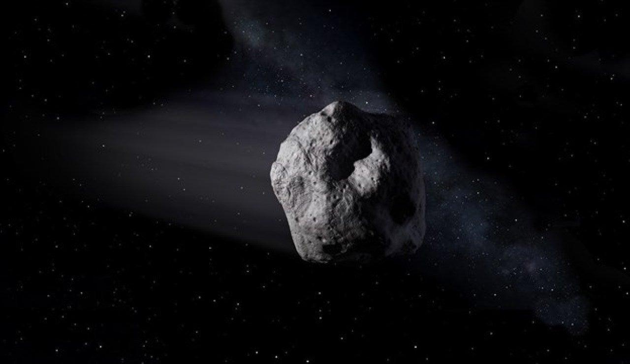 Imagen de un asteroide