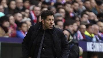 Simeone, durante el partido contra el Girona
