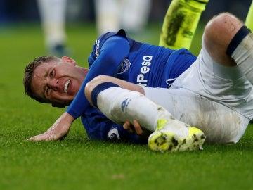 McCarthy en el momento de la lesión