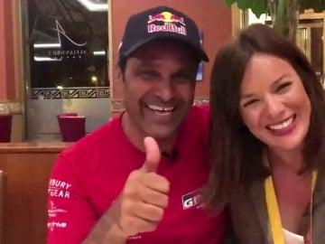 """Al-Attiyah, con Mercedes Martín: """"Espero no tener que volver a Bolivia, es una locura"""""""