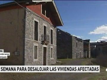 Imagen de las casas que han de ser desalojadas en una semana