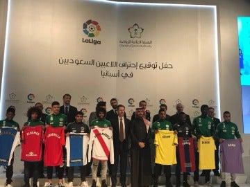 Nueve jugadores saudíes llegan a LaLiga