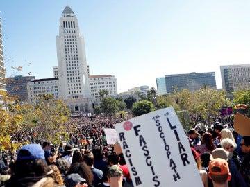 Imagen de la Marcha de Mujeres en Los  Angeles