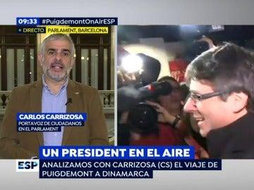 Carlos Carrizoza, portavoz de Ciudadanos en el Parlament