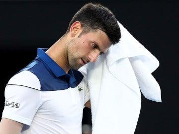 Djokovic se lamenta tras un punto ante Chung