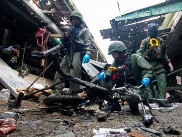 Imagen del mercado en el que explotó una bomba en Tailandia