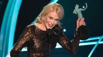 Nicole Kidman con su SAG Awards