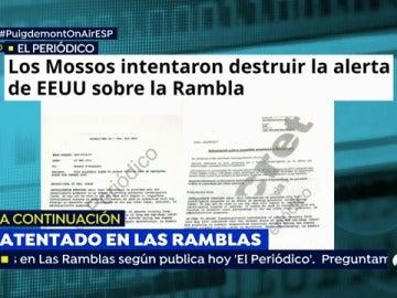 Los Mossos d'Esquadra intentaron quemar la alerta de EEUU sobre el aviso de atentado de Barcelona