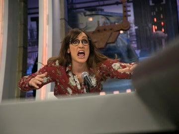 """Ana Morgade recrea el famoso """"¡Dime que no estoy soñando!"""", del comentarista deportivo Óscar Cuesta, en 'El Hormiguero 3.0'"""