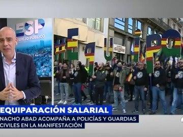 'Espejo Público' vive el ambiente reivindicativo en la manifestación por la equiparación salarial en Barcelona