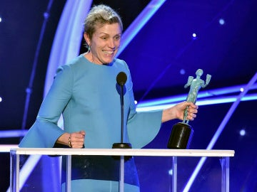 Frances McDormand en su discurso en los SAG Awards