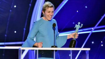 Frances McDormand en su discurso en los SAG Awards