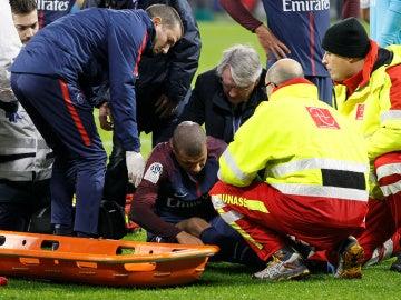 Mbappé, tras su golpe con Lopes