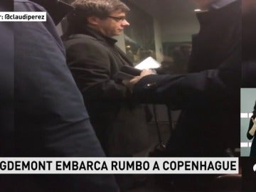 Carles Puigdemont viaja a Copenhague en avión desde Bélgica