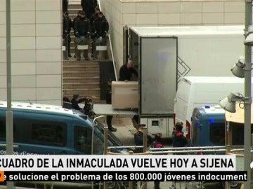 El Gobierno de Aragón recoge este martes en Lleida el cuadro de la Inmaculada