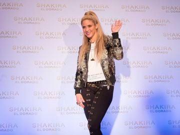 Shakira durante un acto promocional
