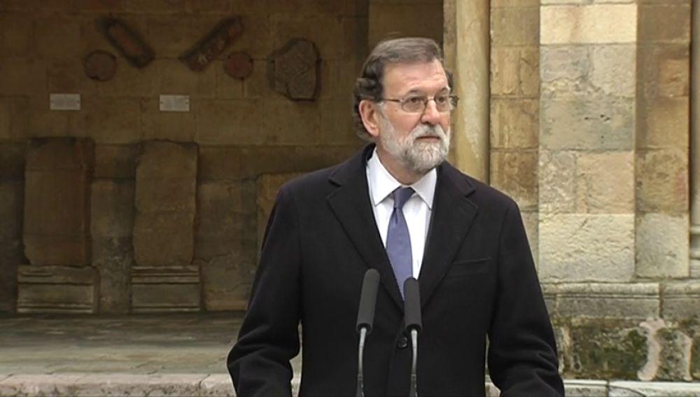 Mariano Rajoy, en un acto en León