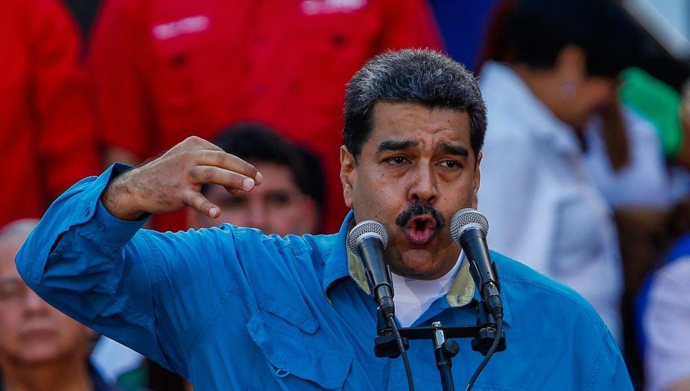 El presidente venezolano, Nicolás Maduro, participa en un evento
