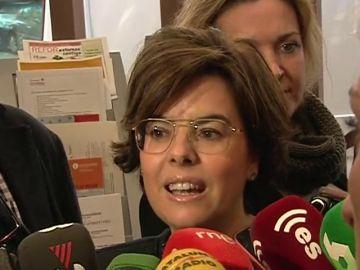 """Santamaría ve """"imposible"""" el voto delegado desde Bruselas y emplaza a Puigdemont a dejar de dar """"espectáculos"""""""