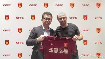 Mascherano, con la camiseta del Hebei China Fortune
