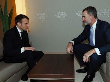 Encuentro del Rey Felipe VI con el presidente francés, Emmanuel Macron