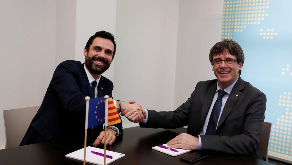 Roger Torrent y Carles Puigdemont