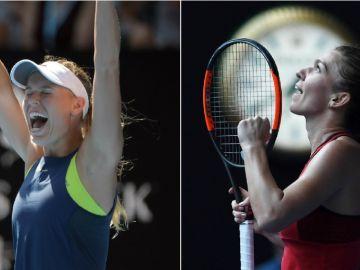 Caroline Wozniacki y Simona Halep, finalistas del Open de Australia