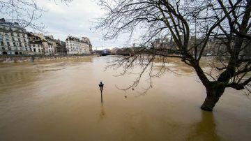 El río Sena, a punto de desbordarse