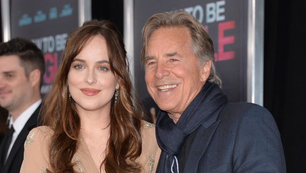 Dakota Johnson, junto a su padre Don Johnson