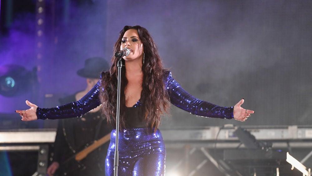 Demi Lovato durante un concierto en Miami, Florida