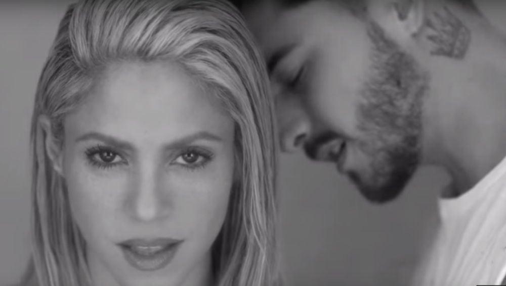 Shakira y Maluma, en el videoclip de 'Trap'