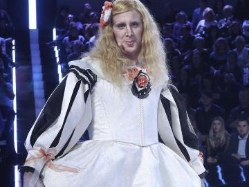 La increíble transformación de David Amor en Margarita de Austria de Las Meninas