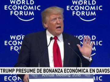 Trump en su discurso en Davos