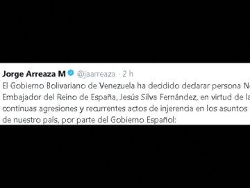 Venezuela da 72 horas al embajador de España para que abandone el país