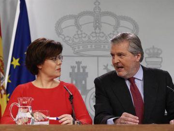 Soraya Sáenz de Santamaría e Íñigo Méndez de Vigo