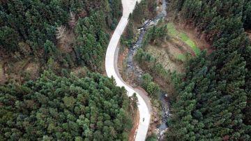 La ruta que recorren diariamente Shi Yuying y su nieto Haowen