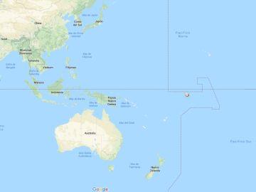 Zona en la que ha desaparecido el transbordador